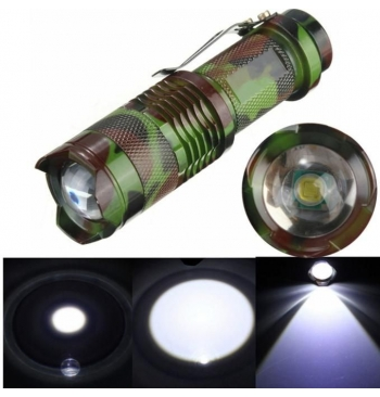 CREE Q5 Mini Clip 2000 Lumens Zoomable LED 3Modes UltraFire Flashlight Torch