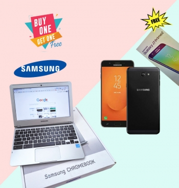 Samsung Chromebook with Samsung Galaxy J7 Prime 2 32gb