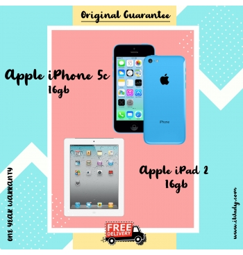 Apple iPhone 5C + Apple iPad 2 16gb