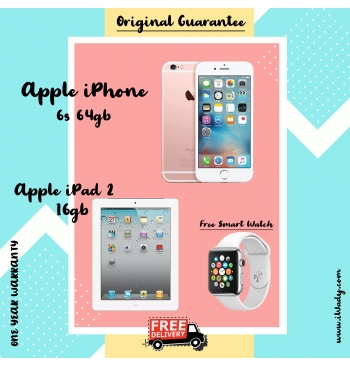 Apple iPhone 6s 64gb + Apple iPad 2 16gb