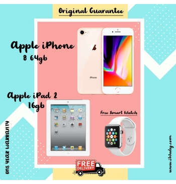 Apple iPhone 8 64gb + Apple iPad 2 16gb