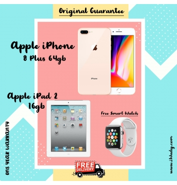 Apple iPhone 8 Plus 64gb + Apple iPad 2 16gb