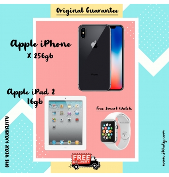 Apple iPhone X 256gb + Apple iPad 2 16gb
