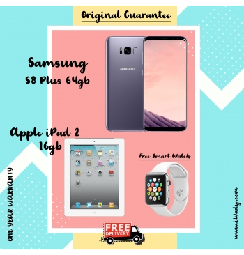 Samsung S8 Plus 64gb + Apple iPad 2 16gb
