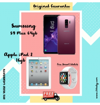 Samsung S9 Plus 64gb + Apple iPad 2 16gb
