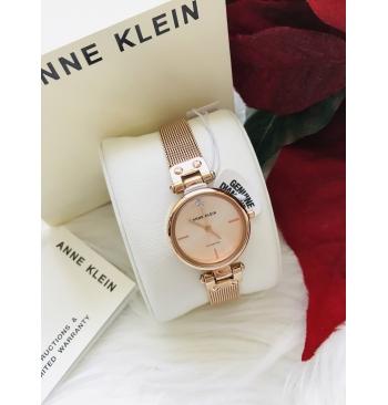 Anne Klein [AK3002] Women's Genuine Diamond Dial Mesh Bracelet Watch