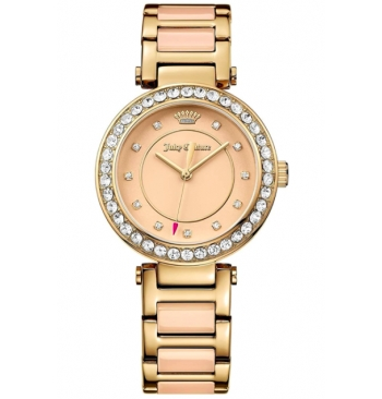 Juicy Couture Casual 2-Tone Ceramic Watch For Women