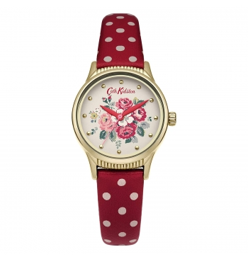 Cath Kidston Women's Off White Dial PU Leather Band Watch