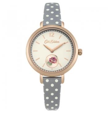 Cath Kidston Wells Rose Grey Spot Watch
