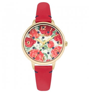 Cath Kidston Women's Navy Dial Leather Band Watch
