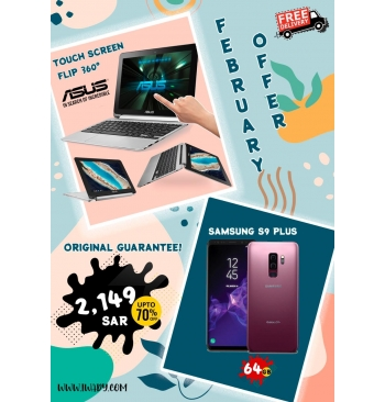 Asus Touchscreen Flip + Samsung S9 PLUS 64GB