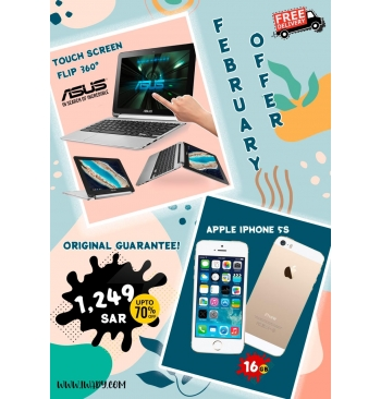 Asus Touchscreen Flip + Apple iPhone 5s 16GB