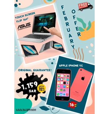 Asus Touchscreen Flip + Apple iPhone 5c 16GB