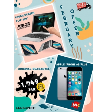 Asus Touchscreen Flip + Apple iPhone 6s PLUS 64GB