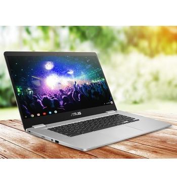 "ASUS Laptop 14"" HD 180° NanoEdge Display, Intel Quad Core Celeron, Chrome OS- C423NA-DH02 Silver"
