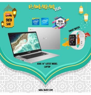 """ASUS 14\"""" Laptop + FREE Smart Watch"""